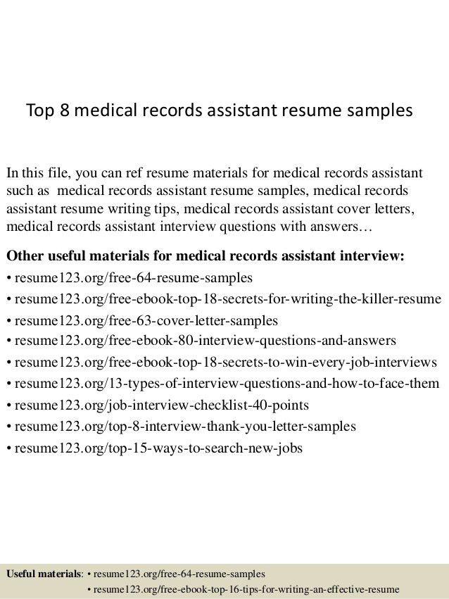 Medical Records Technician Resume Medical Records Technician Resume  Resumetemplate.paasprovider