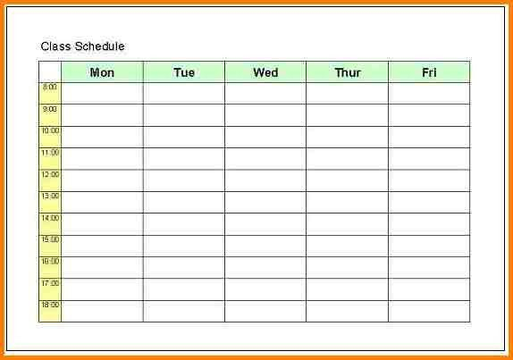 college schedule maker template
