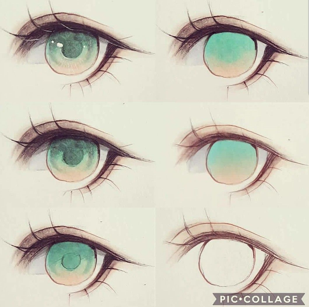 How To Color The Eye Anime Eye Drawing Eye Drawing Anime Drawings Tutorials