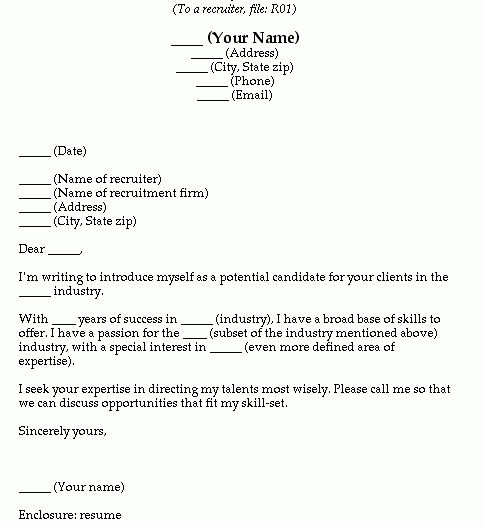 Blank Cover Letter Template Free Cover Letter Template 50 Free - blank cover letter