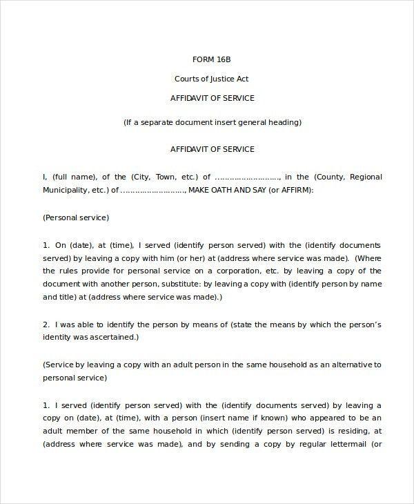 affidavit form template node2003cvresumepaasprovidercom