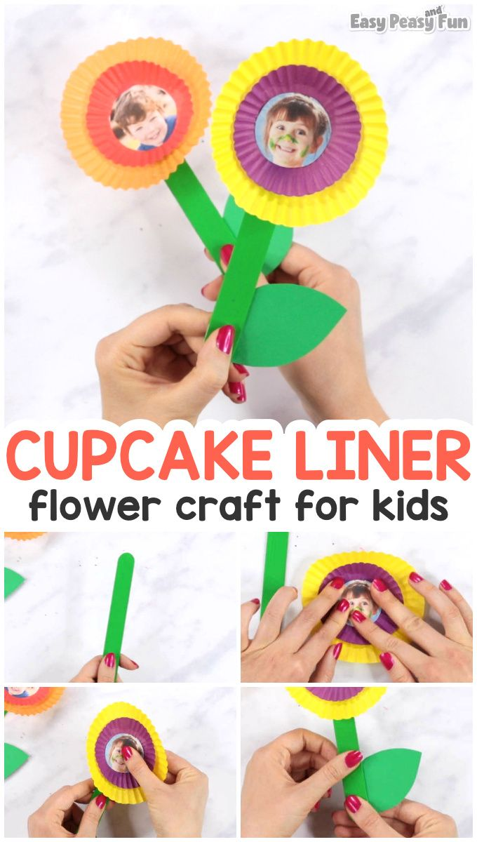 Cupcake Liner Flower Craft - Mother's Day Idea - Easy Peasy and Fun