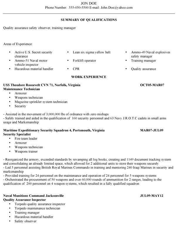 Military Veteran Resume Examples Job Search Strategies Executive - military to civilian resume examples
