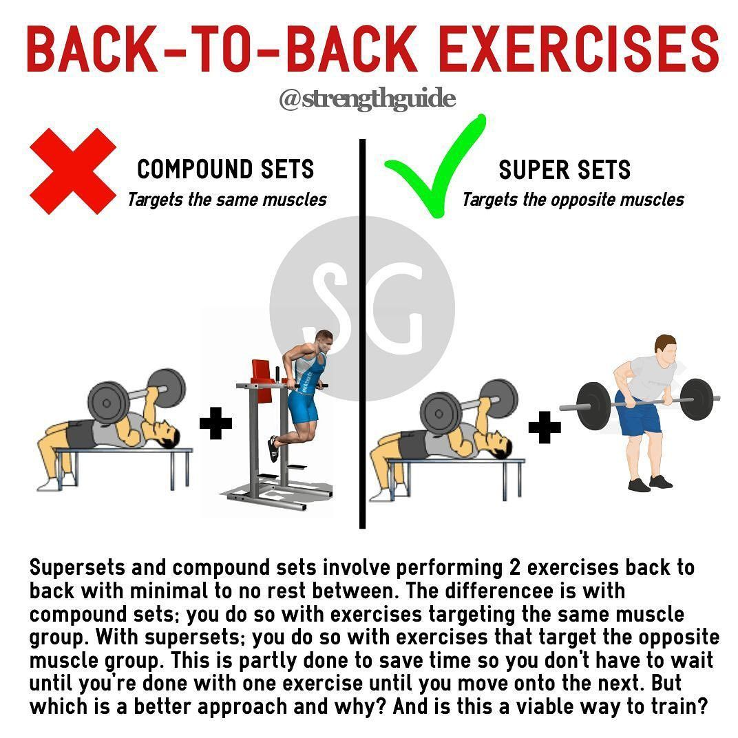 "Strength Guide on Instagram: ""Many gym goers use compound sets from what I can tell. So please tag y"
