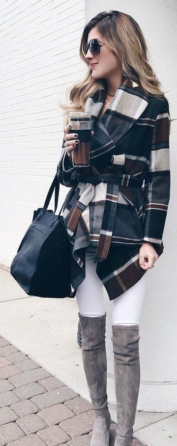 black and gray coat
