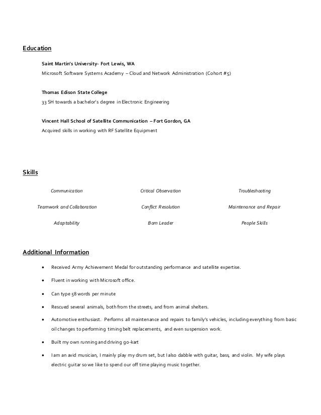 Short Resume Example Career Change Cover Letter Template Examples - short resume examples
