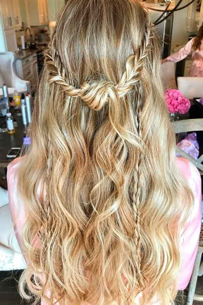 Messy Braided Half-Up #longhairstyles #braidedhairstyles ★ Spring break is approaching, and easy hairstyles that look pretty will come in handy whether you have an active or a passive vacation. See our collection. #glaminati #lifestyle #easyhairstyles