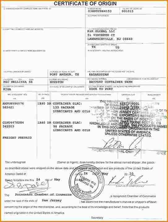 Blank Certificate Of Origin Form Certificate Of Origin Customs - certificate of origin template