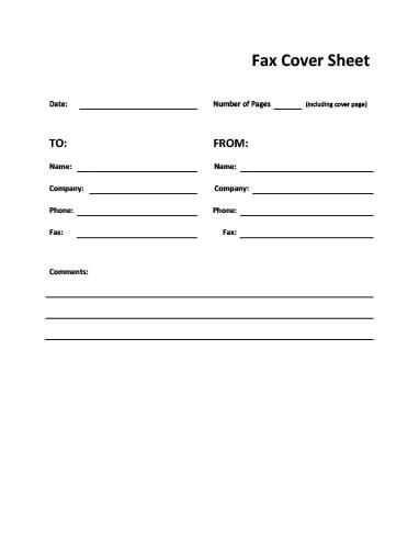 29 Free Printable Fax Cover Sheet Templates  Fax Cover Sheets Templates Free