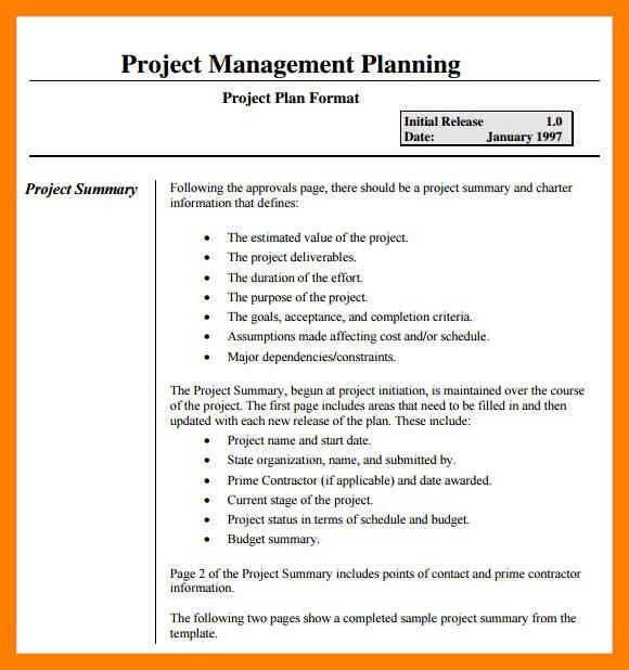 Project Management Plan Template 11 Project Management Plan - project plan example
