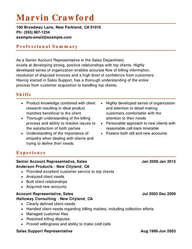 combined resume sample