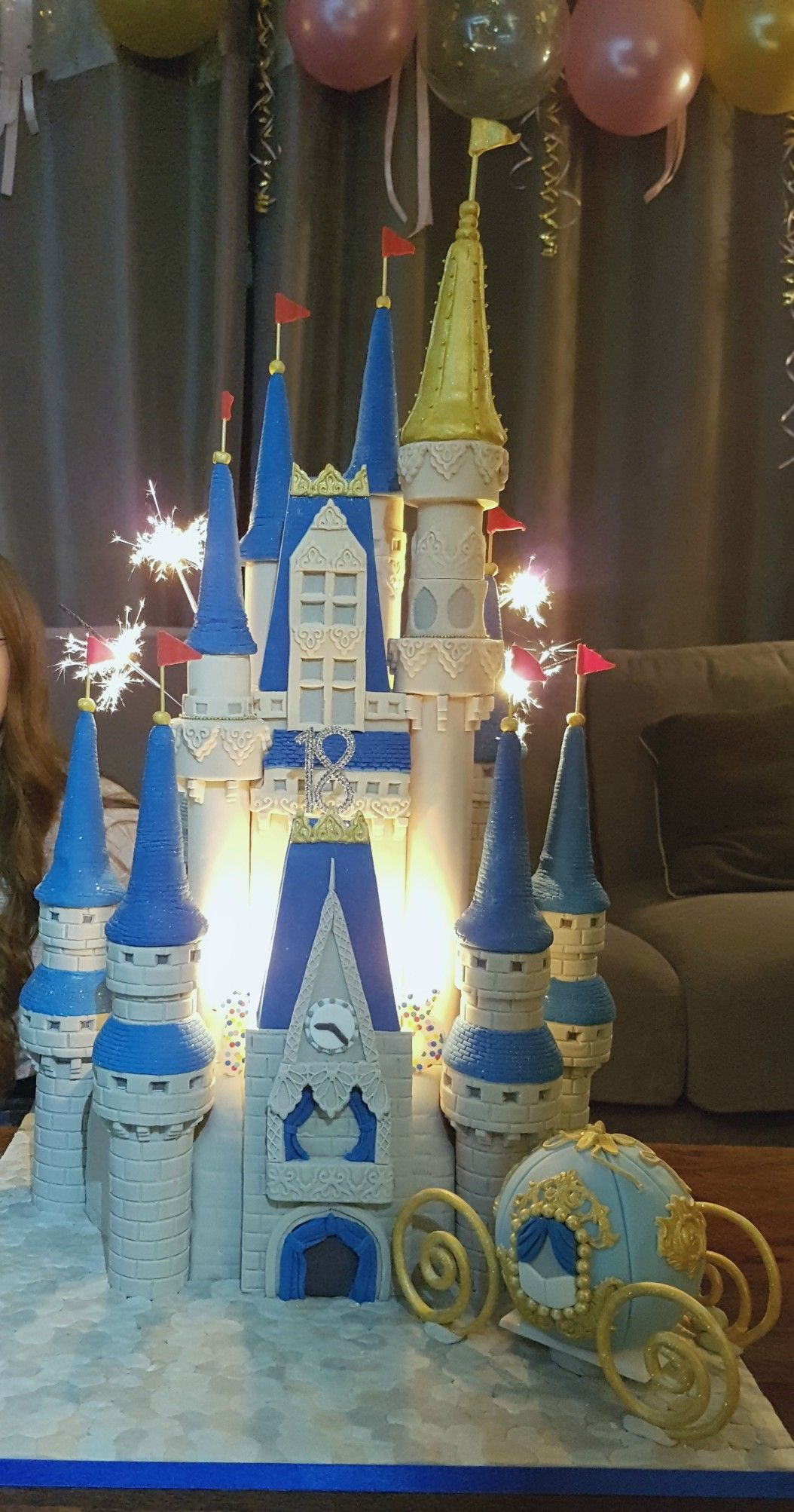 Cinderella princess castle cake with images princess
