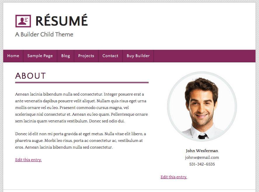 Resume Website Examples 20 Creative Resume Website Templates To