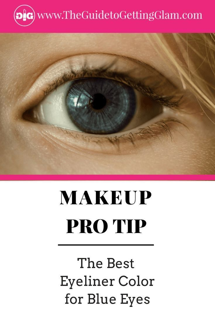 Click to learn which is the best eyeliner color for blue eyes to make blue eyes stand out. #makeup #makeuptip #makeupartist #blueeyes #eyeliner #besteyelinerforblueeyes