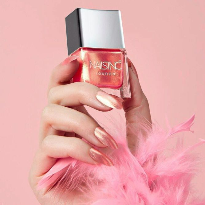 Tropical Sunset Gorgeous Shimmer Shade For Pale Skin #shimmernails #almondnails ★ Which summer nail colors do you prefer, bright or more neutral? Explore trendy nail designs for the summertime 2018.  #glaminati #lifestyle #summernailcolors