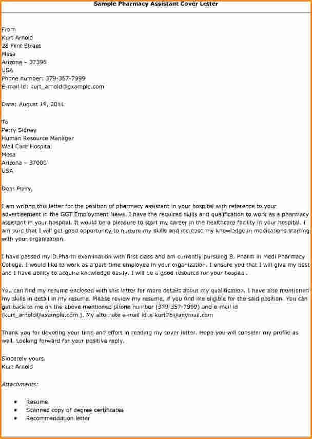 Pharmaceutical Assistant Cover Letter Node494cvresumecloud