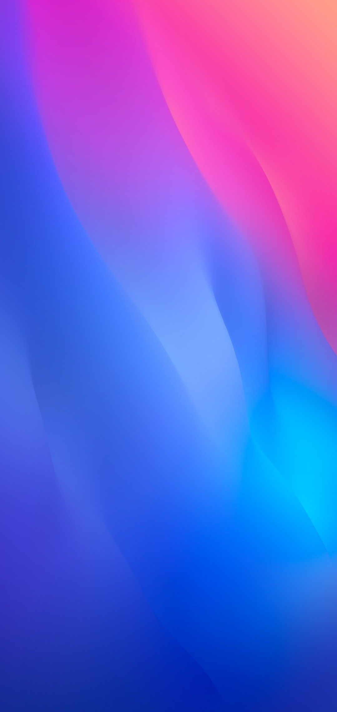 Ios 12 Iphone X Blue Pink Clean Simple Abstract Apple