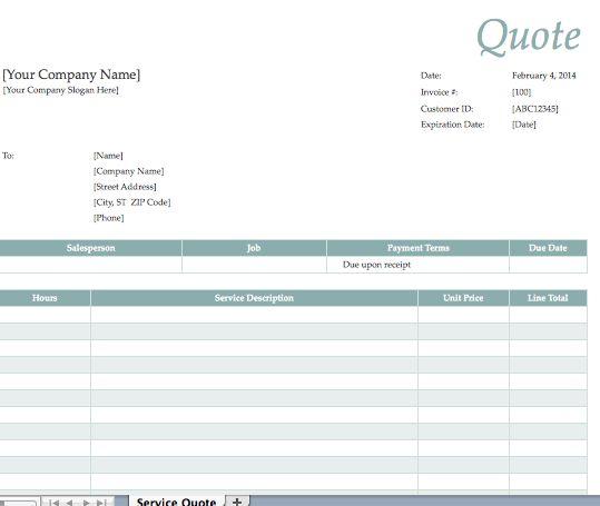 official quotation format hitecauto - consultant quotation