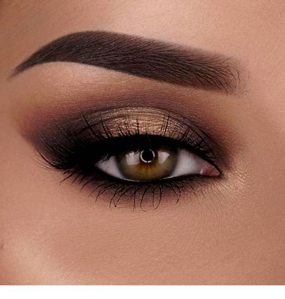 All brown eye makeup