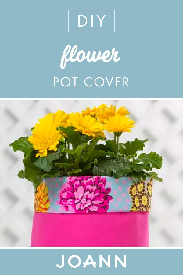 Brighten your average flower pot with this DIY Flower Pot Cover from JOANN! This easy and colorful craft is wonderful for welcoming the spring season.