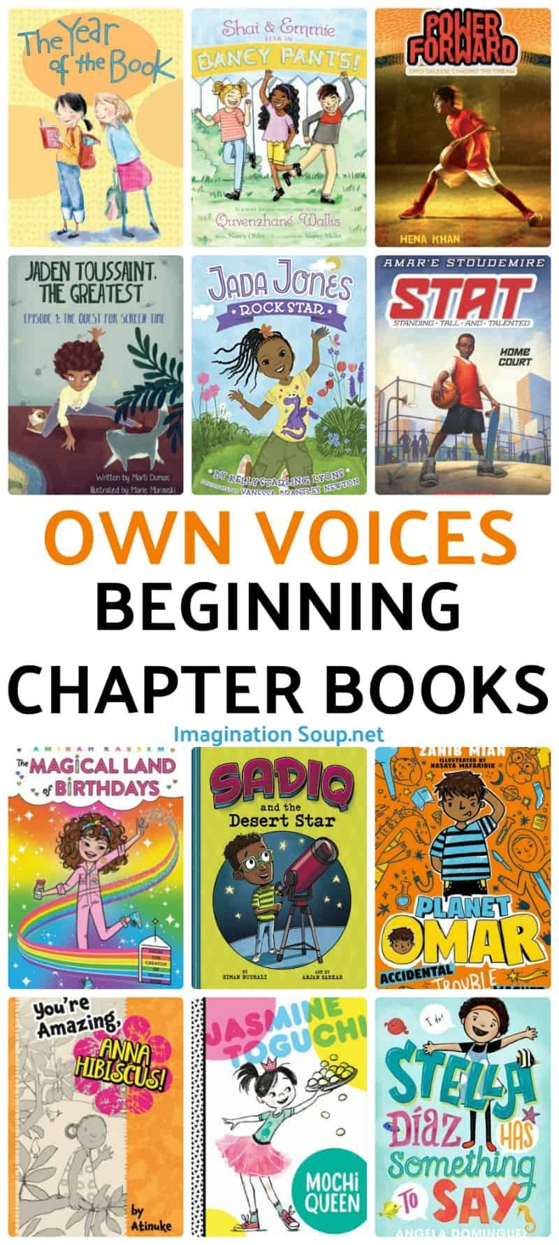 OwnVoices Beginning Chapter Books for Growing Readers Ages 6 – 8