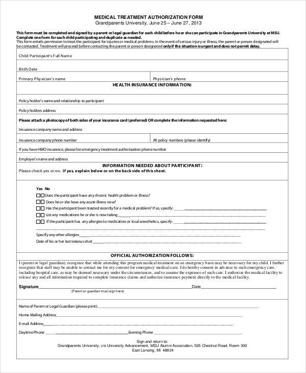 Free Printable Doctor Forms Printable Medical Form 2017 Form - free medical form
