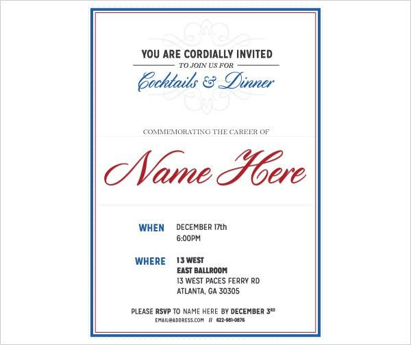 You Are Invited Template You Re Invited Template Invitation - retirement party flyer template