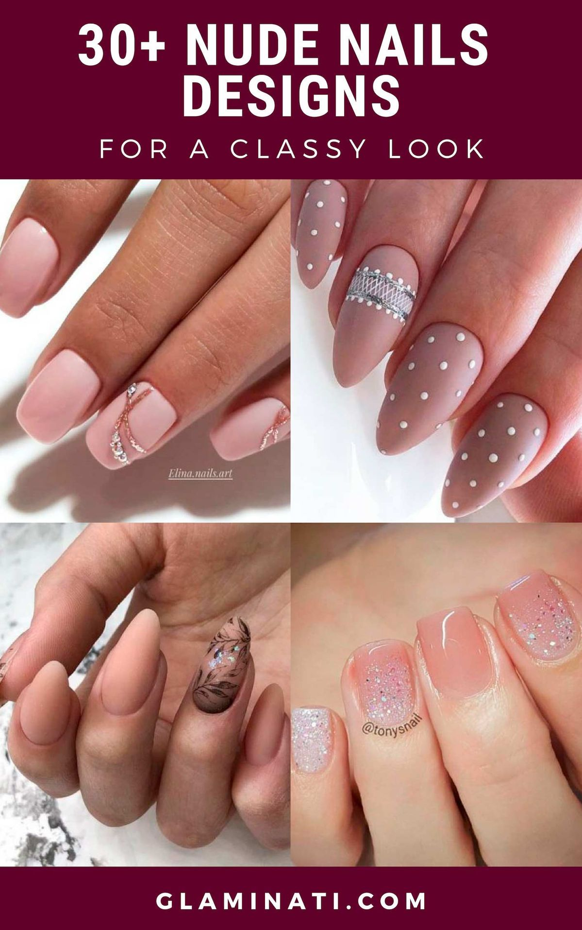 30+ Nude Nails Designs For A Classy Look ★ Simple and natural design ideas to treat your nails with! #lifestyle #glaminati #nudenail