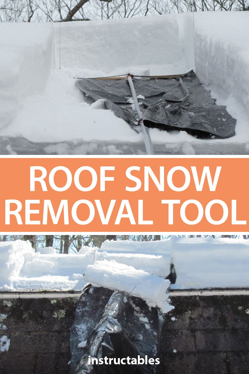 This roof snow removal tool makes it fast and easy to get snow off your roof. #Instructables #outdoors #workshop #cleaning #winter