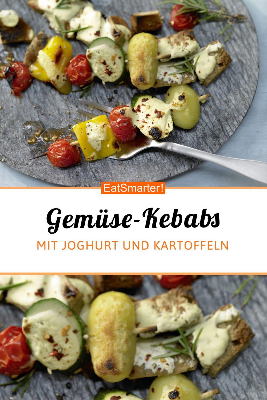 Gemüse-Kebabs - mit Joghurt - smarter - Kalorien: 536 kcal - Zeit: 1 Std. | eatsmarter.de #intervallfasten #kebab #healthy #gemüse