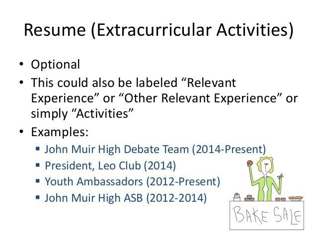 resume extracurricular activities examples library resume sample