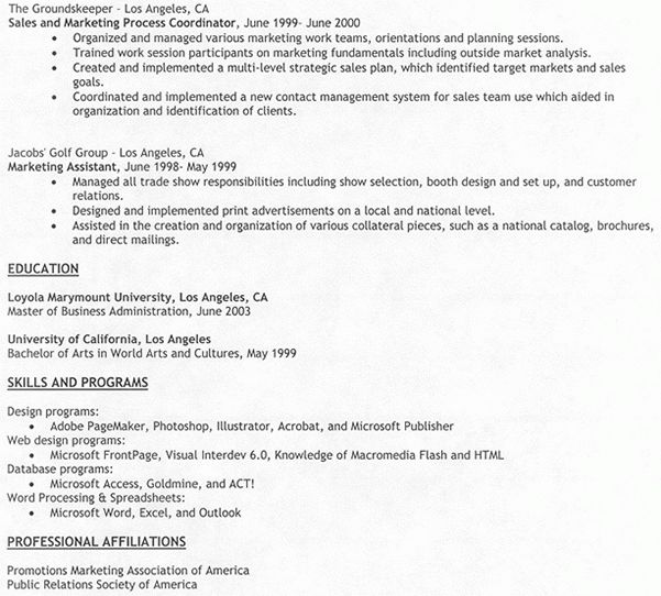 Work History Resume Example Edit Hotspotsedit Hotspots A - resume template with no work experience