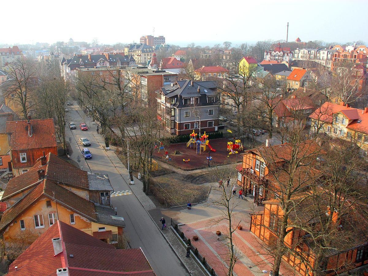 Вид на Зеленоградск со смотровой площадки Водонапорной башни. Фото: Evgenia Shveda