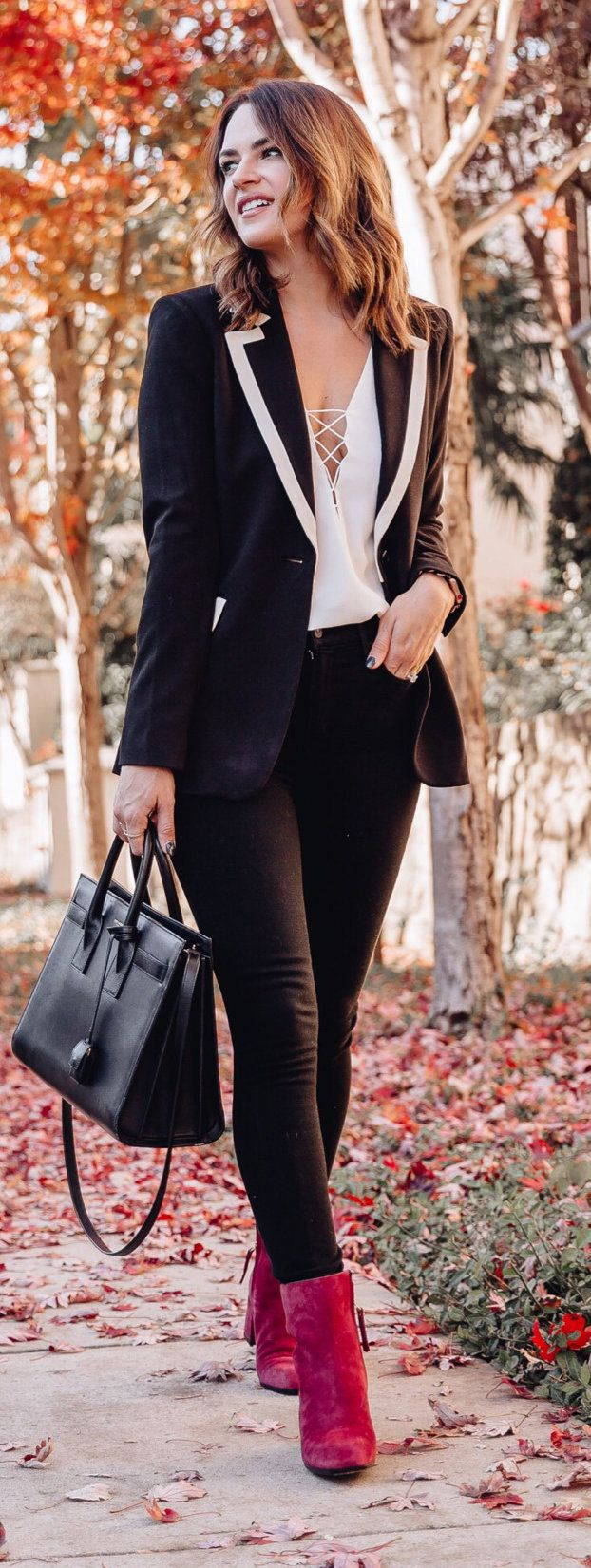 black peaked lapel suit jacket