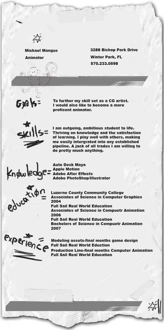 2d Animator Sample Resume 2d animator sample resume 2d animator