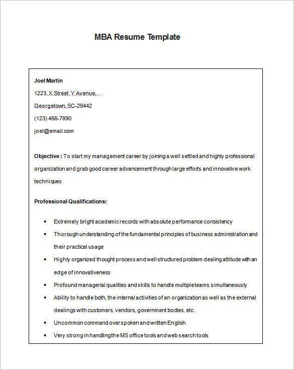 Resume Free Samples Download Free Basic Resume Templates Free - mba resume template