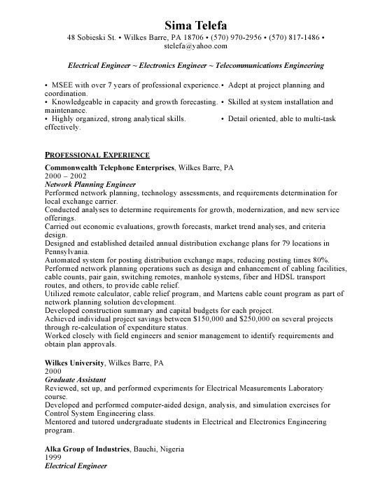 Telecommunications design engineer sample resume engineer resume telecommunications design engineer sample resume hardware design yelopaper Image collections