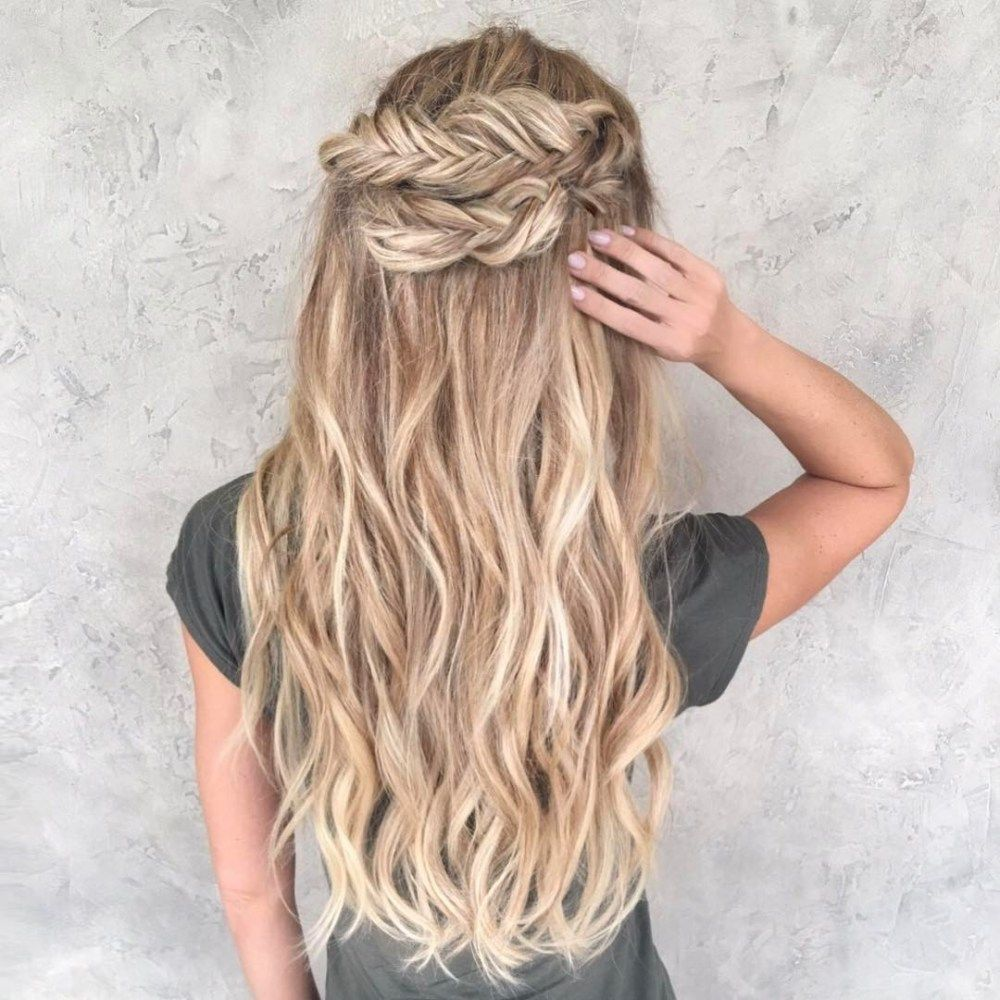 "half updo with fishtail crown<p><a href=""http://www.homeinteriordesign.org/2018/02/short-guide-to-interior-decoration.html"">Short guide to interior decoration</a></p>"