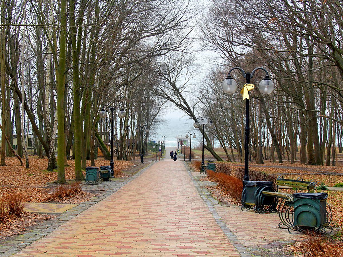 Парк им. С. Беккера, вид на Балтийское море (Янтарный)