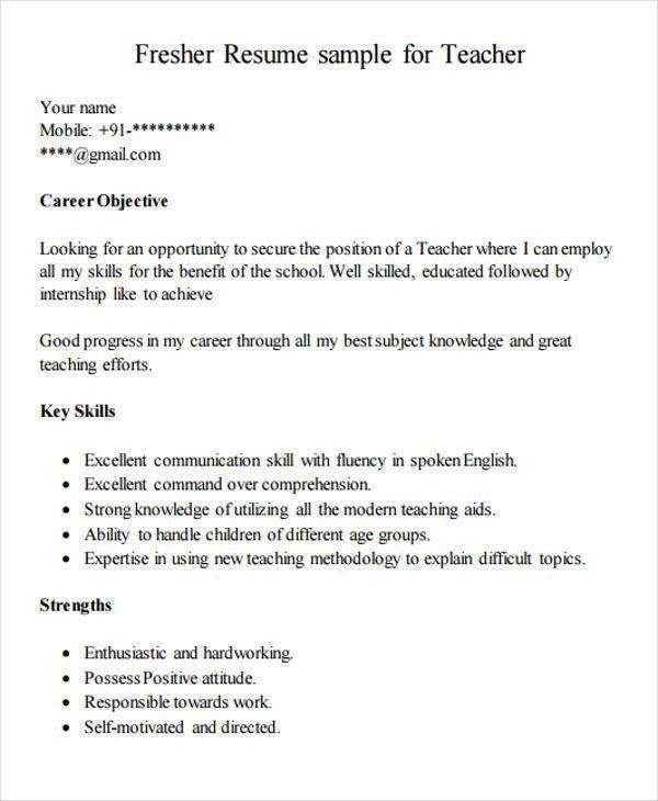 great teacher resume examples
