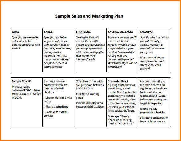 Sample Sales Plan Template Sample Sales Plan Template 17 Free - sales plan sample