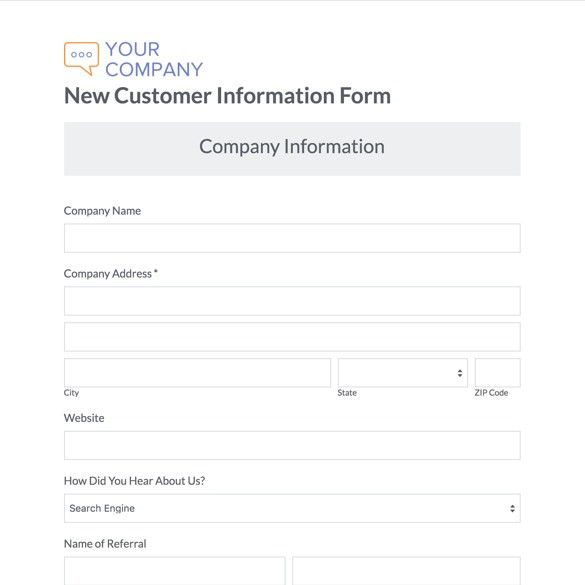 referral form templates
