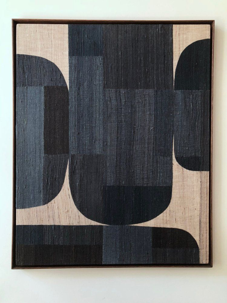 Image of indigo silk composition
