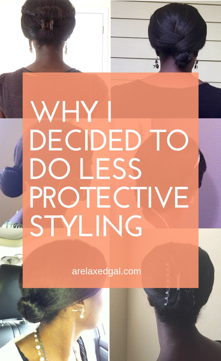 I've decided to do less short-term protective styling but I don't want to mess up my ends or lose any length. So I'm doing 6 things to keep my relaxed ends in good shape. | A Relaxed Gal #healthyhair #protectyourends #protectivestyling #relaxedhair