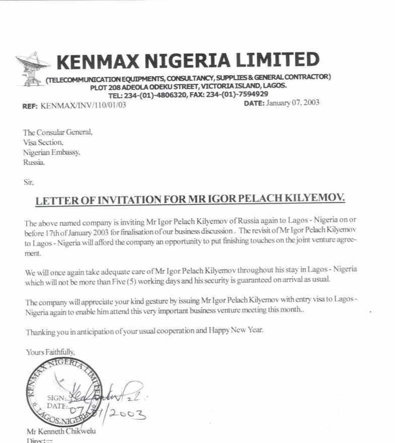 Invitation letter to nigeria sample invitationjdi invitation letter to nigeria sample invitationjdi co spiritdancerdesigns Choice Image