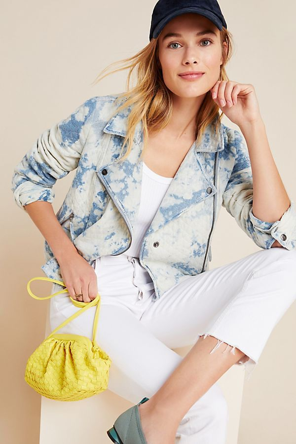 Marrakech Tie-Dyed Quilted Moto Jacket