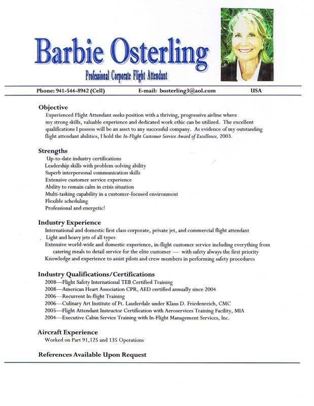 Airline Resume Sample Airlines Resume Occupationalexamples - sample flight attendant resume