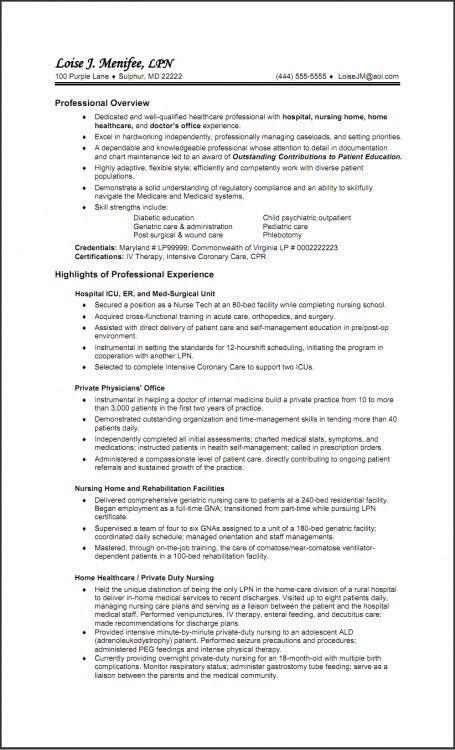 psych nurse resume