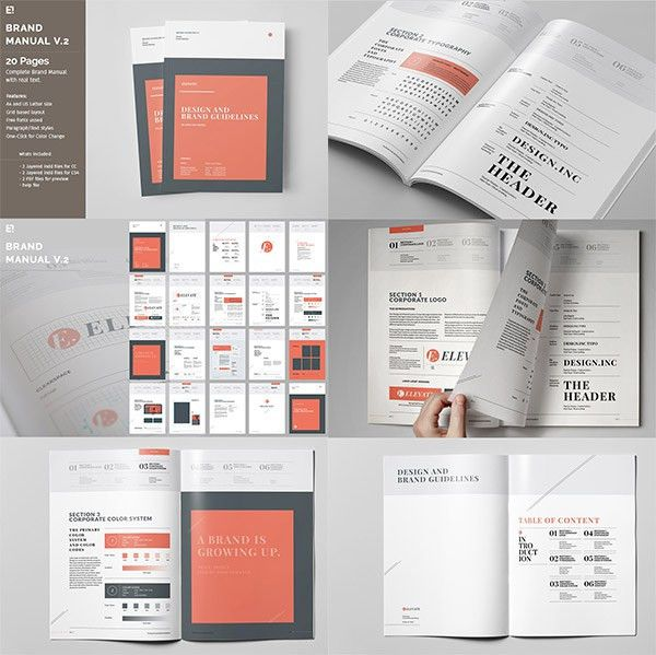 Manual Design Templates 10 professional brand manual templates to