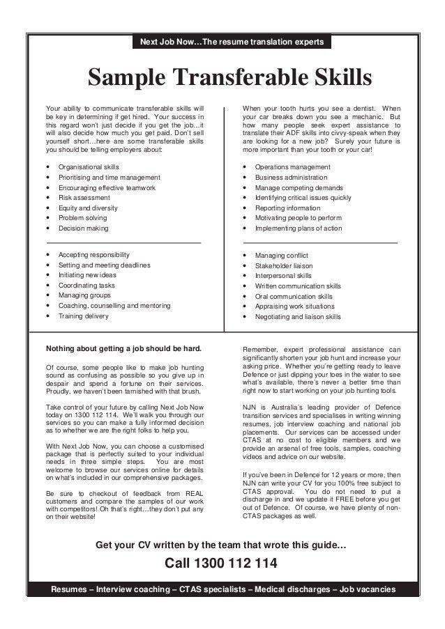 Exceptional Resume Transferable Skills Examples James Madison University And Resume Transferable Skills